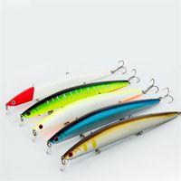 13.8cm 19g Floating Minnow Fishing Lure 6 # Peces Wobbler Tackle Tackle Ojos 3D Crankbait Artificial Japón Duro Bait Swimbait 790 Z2