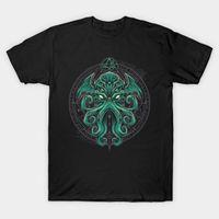 Men's T-Shirts Creative Design High Priest Cthulhu Magic Seal T-Shirt. Summer Cotton Short Sleeve O-Neck Mens T Shirt S-3XL