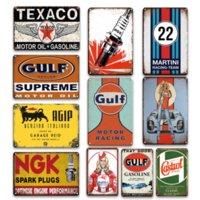 Винтаж NGK Spark Plugs Tin знак залива моторное масло металлическая пластина плакат ретро гараж сарай декор блюд ретро человек пещерный домашний декор