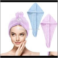 Bathroom Aessories Bath Home & Gardenpacks Of Microfiber Hair Er, Super Absorbent And Quick-Drying Turban Towel Hat For Women Shower Caps Dro