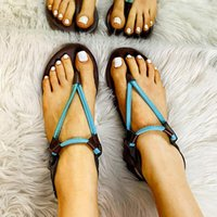 Sandals Fashion Low Heels Flats Woman Hollow T Strap Casual Shoes For Women Beach Clip Toe Slippers