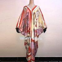Dashiki Dress Stampa Autunno Party Elegante Elegante Elegante Musulmano Abaya Bazin Robe Gown Broder Riches Sexy Lady Maxi Beach Swimwear da donna