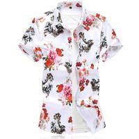 Men's Casual Shirts C232 Floral Horse Pattern 3D Digital Print Short Sleeve Shirt Men Summer 2021 Quality Soft Skin-Friendly Smooth Chemise