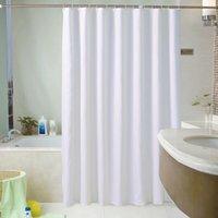 Rideau de douche personnalisé Hôtel Rideaux de salle de bain à l'eau imperméable et à la moisissure épais baignoire solide grande couverture de bain large 12 crochets GWD7315