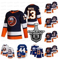 Mathew Barzal New York Islanders 2021 Stanley Cup Playoffs Jersey Anders Lee Jean-Gajriel Pageau Kyle Palmieri Beauvillier Semyon Varlamov Komarov Cizikas Martin