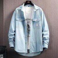 Men's Casual Shirts Denim Jacket Fashion Cotton Camisa Man Loose Hdenim Koszule Outsidewear Spring Autumn Men Coats Male Vintage
