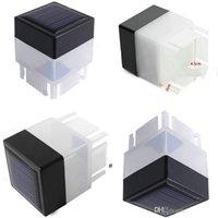 2x2 LED Cerca Solar Luz Lâmpada Postal Ao Ar Livre Lâmpada para Ferro Fechando Fechando Frontal Quintais Portão Paisagismo Residente OWD7564
