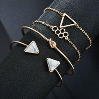 Brincos de desenhador anéis de noivado, pulseiras e colares de ouro são favoritos femininos charme pulseiras acessórios popular honeycomb modelagem geométrica conjunto kno