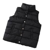 Women's Vests Women Vest Jacket Solid Color Sleeveless Windproof Short Stand Collar Loose Extra Thick Winter Waistcoat For Daily Wear