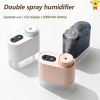 Humidifiers 450ML Rechargeable Separate Air Humidifier Double Spray Port Essential Oil Aromatherapy Diffuser Cool Mist Maker Fogger For Home