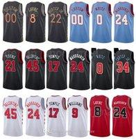 مطبوعة كرة السلة Zach Lavine Jersey 8 Otto Porter JR 22 Coby White 0 Wendell Carter Jr 34 City City Edition Black الأحمر الأبيض