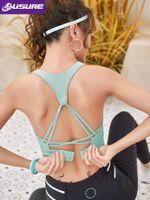Gym Vêtements LUSURE Fitness Gilet Femme PHOTO SOCK SANS BEAN BEAUTY BEAUTY BACK BRA ROBINÉ SOUS-VILL SPORTS ANTI-SAG