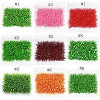 البيئة العشب الاصطناعي الملونة الزخرفية الزخرفية العشب دائم بلات الجدار حساسة من البلاستيك العشب لحديقة الزفاف