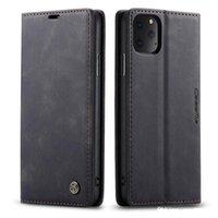 Funda de cartera de cuero CASEMA para iPhone 12 Pro 2020 5.4 6.1 6.7 Samsung S21 S20 Fe Plus Note 20 Ultra Skk Magnetic Close Titular de la vendimia Soporte de la cubierta Flip