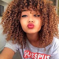 Short Afro Crochet Hair Lace Front Wigs With Bangs For Black Women African Synthetic Ombre Glueless Cosplay Wig