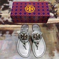 Estilo Original Luxurys Designer Slipper Mulheres Marcas Aberto Toe Flip Sandálias 2021 Verão Clássico Moda Flat Anti-Skid Slippers Beach Shoes