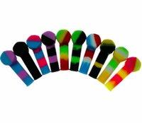Tuyau de silicone coloré respectueux de l'environnement Set de tabac portable respectueux de l'environnement