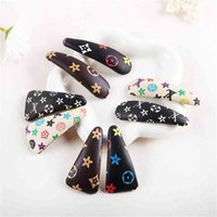 Retro Ventage PU Leather Hairpin Designers Classic Flower Hair Pin Clips Girls Barrettes 8.5CM Big Size Hairband Christmas Party Headdress Accessory G101LAZ