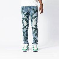 Прибытие Мужские дизайнерские джинсы разорванные пять звездных стилей нашивки Slim steg Jean S мотоцикл Baiker Causal Hip Hop продал нам размер 28-40