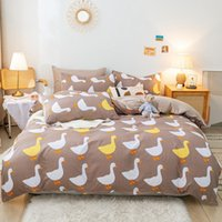Bedding Sets Home Textile Lattice Duvet Cover Pillowcase Bed Sheet Double Side Quilt Boy Kid Teen Girl Linens Set King Size