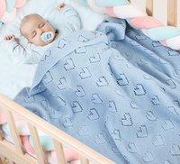 Baby-Decke Liebe Haert aushöhlen Soogan-Plain-gestrickte Decken schlafende Bettwäsche-Quiltklimaanlage Bettdecken WMQ1334