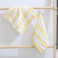 Newbaby Burp Cloths 간호 수건 6 레이어 코튼 거즈 스퀘어 타올 아기 일반 타액 수건 유아용 페이스 타월 손수건 30 * 30cm EWC7001
