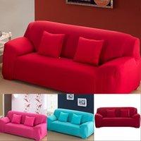 1 2 3 4-х местный диван обложка Спандекс Современный эластичный полиэстер сплошной диван чехлочный кресло для кресла мебельная защитная гостиная 6 цветов 471 v2