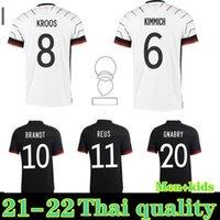 2021 2022 Almanya Futbol Forması Ev Uzakta Hummels Kroos Draxler Reus Muller Gotze Kimmich Gundogan 20 21 Futbol Gömlek Erkekler + Çocuklar Kiti