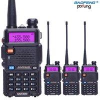 Walkie Talkie 4 adet / grup Baofeng UV-5R Jambon Radyo UHFVHF 136-174MHZ400-520MHz 128 Çift Bant İki Yönlü 5W HF Techioiver Nominal