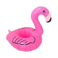 Kupası şişme flamingo için hava yatakları flamingo içecekler bardak tutucu havuz şamandıra bar bardakçılar yüzdürme cihazları pembe 1362 z2