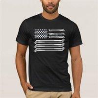 Tendencia de moda camiseta Bandera de golf 100% algodón golf de golf Club 4 de julio día camiseta camiseta hombres