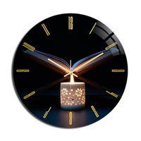 Wall Clocks Eid Clock Frameless 3D Acrylic Decor Home Office Islamic Muslim Hanging Decoration For Bedroom Living Room