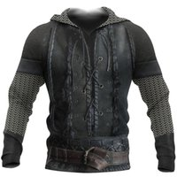 Women's Hoodies & Sweatshirts Cosmos Viking Warrior Tattoo Armor Fashion Tracksuit Funny 3D Print Pullover Unisex Zip Hoodies Sweatshirts Jacket YMXN