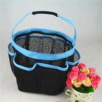 Умывальник для хранения мешок для хранения ванны сетчатая сумка для ванны для плавания сухой мокрый разделительный пляж Многокарманная портативная корзина BWC7417