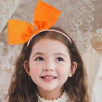 GROGRAIN Kurdele Katı Renkler Saç Hoop Hairbands Sevimli Kızlar Için Yay Bows Kulakları Bantlar Çocuklar Saç Aksesuarları Saç Bantları