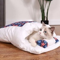 Dog Cat Bed Sleeping Bag Winter Warm Sack Blanket Mat Removable House Small Pet Puppy Kennel Nest Cushion Supplies
