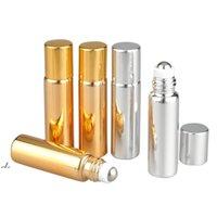 Rulo Topu Uçucu Yağ Şişeleri UV Seyahat Boş Mini 5 ml / 10 ml Ayrı Parfüm Şişeleri Cam Parfüm Şişeleri DWE10625