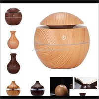 Oils Diffusers Fragrances Décor & Gardenwood Grain Bamboo With Led Lights Mini Aroma Essential Oil Diffuser Usb Ultrasonic Air Humidifier Fo
