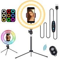 Selfie Monopods Ring Light 10 Inch With Tripod And Flexible Phone Holder Remote Control Akcesoria Do Telefonów Komórkowych Tripode Para Movi
