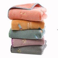 Toalhas de microfibra toalhas de doces sólidos cores retângulo limpeza toallas absorvente turbante washcloths casa limpeza de cozinha facecloths owe8102