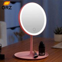 Makeup Mirrors With Natural White 3 Modes Touch Vanity Detachable Stand Up Desk Table Mirror USB Charge