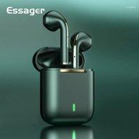 Esger J18 TWS Bluetooth Kulaklık Kulaklık Gerçek Kablosuz Kulakiçi Kulak Stereo Kulaklık Telefon Için Tomurcukları111