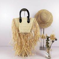 HBP 2021 Brand Paglia nappa Borsa Fashion Rattan Weave Ladies Borsa Borsa Famoso Designer Borse a tracolla a spalla fatta a mano Summer Beach Purse Tote