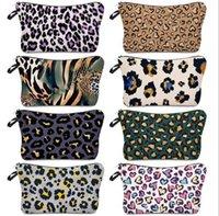 Borsa cosmetica Leopard Stampa Stampa impermeabile Borsa per il trucco Ladies Borsa di stoccaggio Simple Fashion Travel Sacchetto portafogli Totes Zipper Handbag E120407