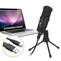 Fällbar och bärbar USB-kondensator Mikrofon Stabil stativ Stativ Plug and Play