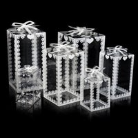 Clear PVC Box Party Plastic Packaging Present Flower Gift Box Birthday Baby Shower Favor Transparent Boxes