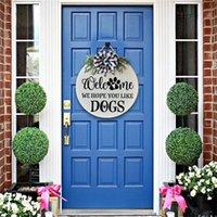 Parti dekorasyon ahşap hoş geldiniz kapı yönü işaretleri askı çelenk ön dekor süs