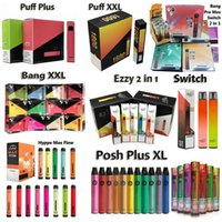 Version jetable E Cigarettes Puff Plus Bang XXL Pro Max Switch Ezzy 2in1 800 1500 1600 Puffs Vape à cigarettes électroniques