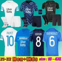 Hommes + Kids Kit 21 22 Marseille Soccer Jerseys Gerson Ünder Olympique Milik Maillot de Foot 2021 2022 Payet Guendouzi Kamara Football Shirt Hommes + Enfants Konrad OM