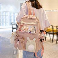 Симпатичные студент колледж рюкзак женские четкие шкалы школа школа девушка ноутбук harajuku рюкзак рюкзак kawaii прозрачная женская сумка книга